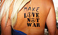 Flag Bodypaint Make Love Not War Bodyart (8498598309).jpg