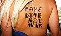 Flag Bodypaint Make Love Not War Bodyart (8498598309).jpg