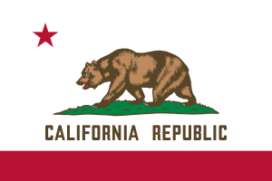 Flag of California. This version is designed t...