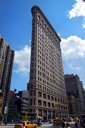 Skyscraper - The Flatiron building completed in 1902 in New York City