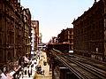 Flickr - …trialsanderrors - Wabash Ave north from Adams Street, Chicago, Illinois, 1900.jpg
