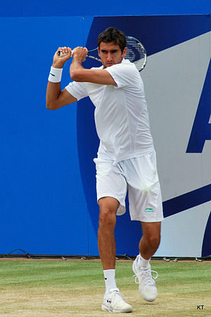 Marin Čilić - Čilić during the final of the 2012 Queen's Club Championships