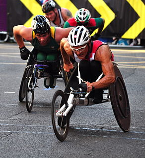 Heinz Frei Swiss Paralympic wheelchair athlete