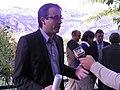 Flickr - Convergència Democràtica de Catalunya - Marc Solsona, número 2 de CiU de Lleida al Congrés atenent els mitjans de comunicación els.jpg