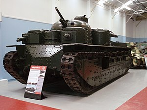 Norman Baillie-Stewart - The Vickers A1E1 Independent tank, the only example built, preserved at the Bovington Tank Museum (2010)