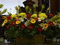 Floral arrangement in church.JPG