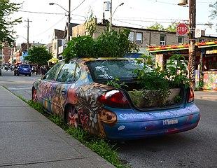 pot, plants, a motor