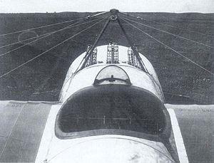 "Fokker E.IV - The Fokker E.IV's original ""three-Spandau"" armament, before the portside gun was removed."