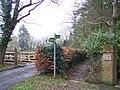 Footpath junction near Rolvenden Layne - geograph.org.uk - 1711218.jpg