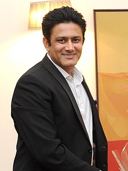 Anil Kumble, former captain of the Indian Test team and spin legend, is the highest wicket-taker for India in international cricket. Former Indian cricketer Anil Kumble.jpg