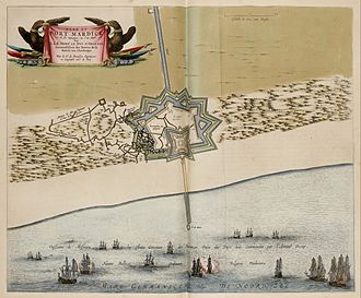 Action of 18 February 1639 - Map of Fort-Mardyck in 1646, by Joan Blaeu.