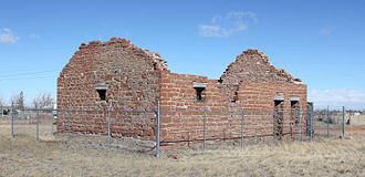 Fort Sanders (Wyoming) - The guardhouse in 2014.
