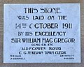 Foundation stone of Sandgate Town Hall, Queensland, 2020.jpg
