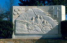 Four Chaplains monument, Ann Arbor, Michigan.jpg