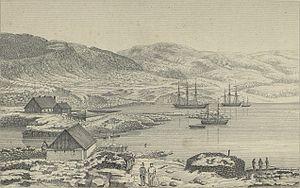 Qaqortoq - Qaqortoq (Julianehaab) in 1860.