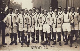 Rugby union at the 1924 Summer Olympics - The French team.