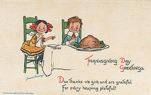300px Frances Brundage Thanksgiving Lets Count Our Blessings on Thanksgiving