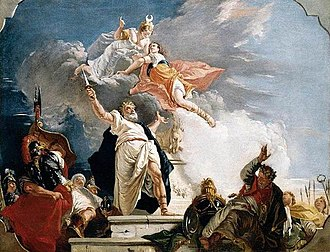 Francesco Fontebasso - The Sacrifice of Iphigenia (1749).