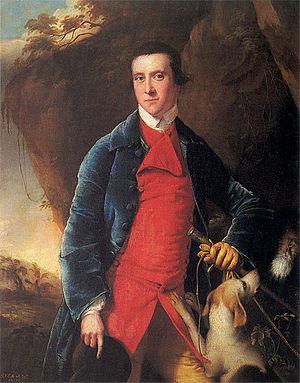 Francis Noel Clarke Mundy - by Joseph Wright of Derby