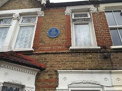 Photo of Frank Bates blue plaque
