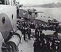Franklin D. Roosevelt boards HMS Prince of Wales (53) at Argentia, Newfoundland, 10 August 1941(AWM 304796).jpg