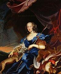 Eleonore von Gonzaga (1628-1686) als Diana, Kaiserin, 3. Gemahlin von Ferdinand III.