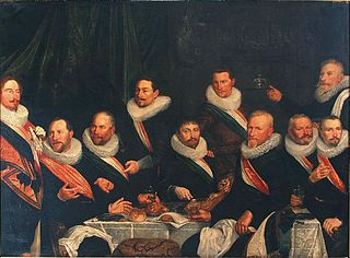 Banquet of the officers of the St. Joris civic guard in 1624