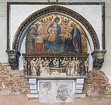 Frari (Venice) - Chapter Room - Monument to Doge Francesco Dandolo.jpg