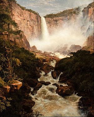 Muisca religion - Tequendama Falls created by Bochica