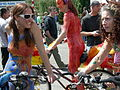 Fremont Fair 2007 pre-parade naked cyclists 08.jpg