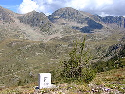 French-Italian border in the Maritime Alps