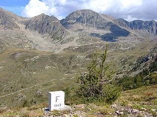 Col de la Lombarde mountain pass