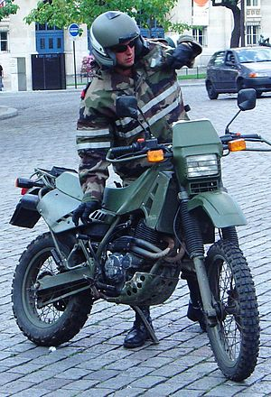 Cagiva - Another Cagiva T4 used by the French Armed Forces