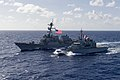 French frigate Vendémiaire (F734) and USS Michael Murphy (DDG-112) underway in the Pacific Ocean on 29 January 2018 (180129-N-LN093-0750).JPG