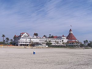 Hotel del Coronado in Coronado, California.