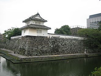 Yagura (tower) - Funai Castle Hitojichi-yagura and base of the main keep tower in the honmaru