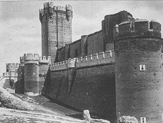 Castle of La Mota - Old image of the castle of La Mota.