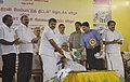 G.K. Vasan releasing the AEPC's (Apparel Export Promotion Council) Compliance Manual at the function for the National launch of the Integrated Skill Development Scheme in Chennai on October 08, 2010.jpg