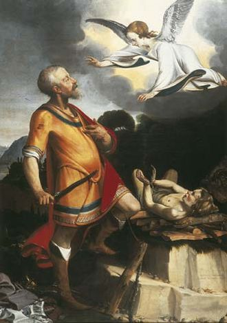Gerard ter Borch the Elder - The Sacrifice of Abraham, 1618-1619