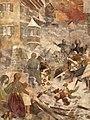 GA Cloß - Zerstörung von Rapperswil im Jahre 1350 (Wandgemälde ca.1896).jpg
