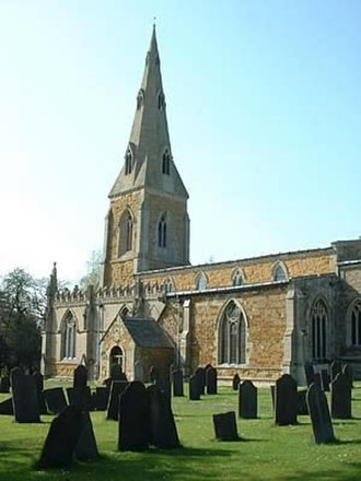 Gaddesby - Image: Gaddesby church from South East
