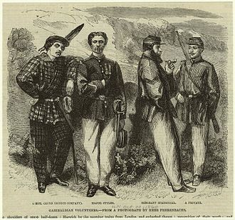 Redshirts (Italy) - Image: Garibaldian volunteers.