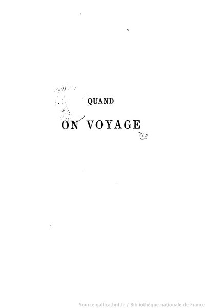 File:Gautier - Quand on voyage.djvu