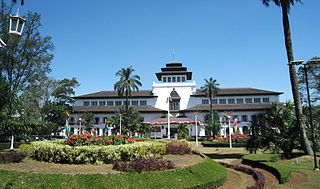Bandung City in West Java, Indonesia