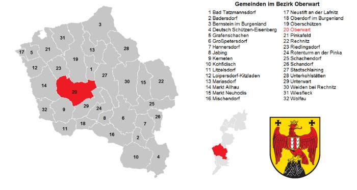 Municipalities in the Oberwart district.png