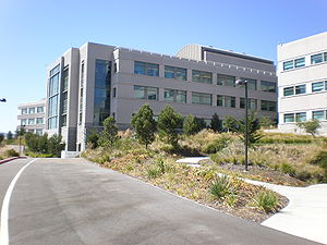 A section of the mid campus of the Genentech h...