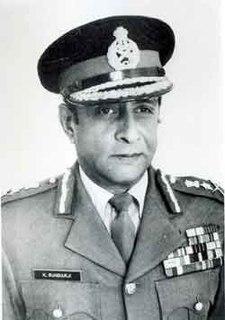 Krishnaswamy Sundarji Indian soldier (Indian Chief of Staff 1986-1998) and author (1930-1999)