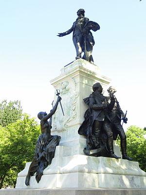 Lafayette Square, Washington, D.C. - Major General Marquis Gilbert de Lafayette, a statue of Lafayette by Alexandre Falguière and Antonin Mercié, 1891.