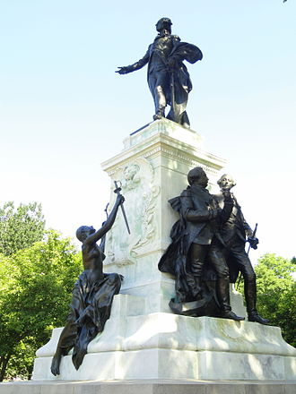 Lafayette Square, Washington, D.C. - Major General Marquis Gilbert de Lafayette, a statue of Lafayette by Alexandre Falguière and Antonin Mercié, 1891