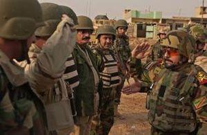 Ninawa campaign - General Riyadh Jalal Tawfiq visits Iraqi troops at Combat Outpost Intisar in Mosul, February 2008